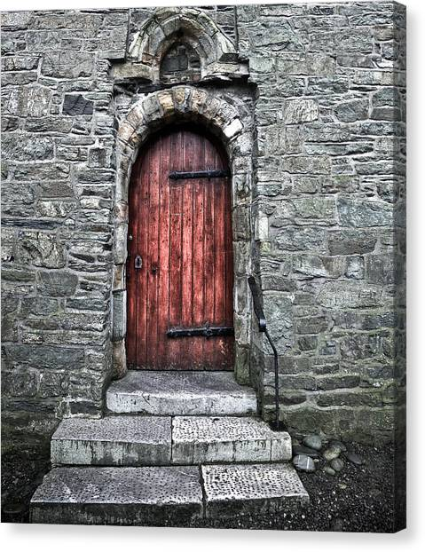 Cathedral Door Canvas Print by Patrick  Flynn