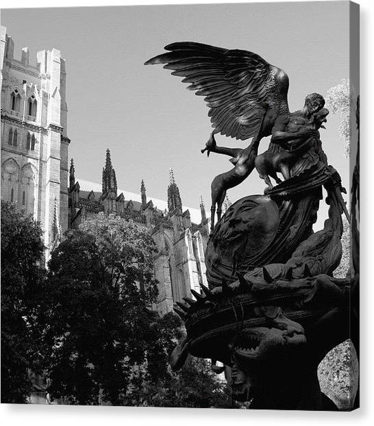 Medieval Art Canvas Print - Cathedral Of Saint John The Divine - by Joel Lopez