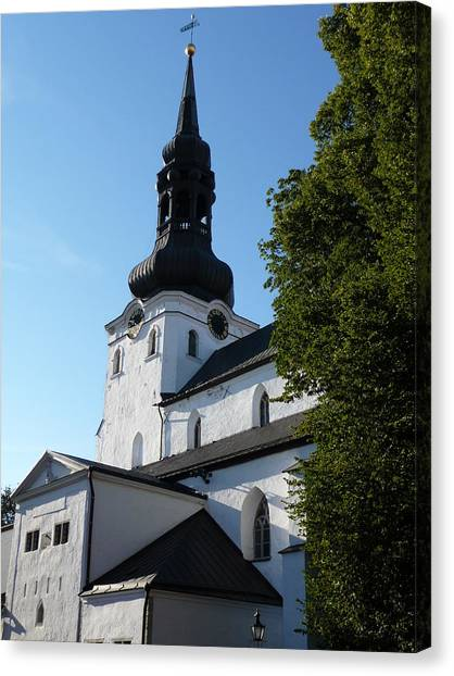 Cathedral Of Saint Mary The Virgin In Tallinn Canvas Print by Christopher Mullard