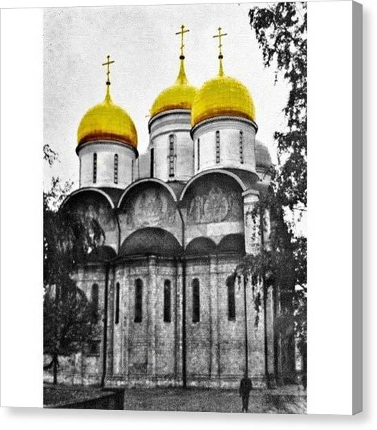 Russia Canvas Print - Cathedral Of The Assumption, Moscow by Nicola ام ابراهيم