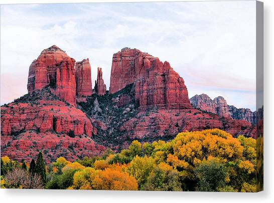 Cathedral Rock Canvas Print - Cathedral Rock by Kristin Elmquist