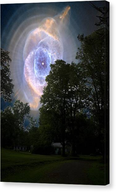Cat's Eye Nebula From Earth Canvas Print