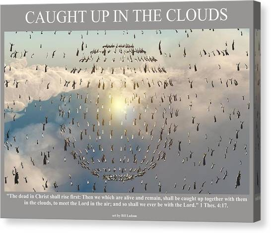 Caught Up In The Clouds Canvas Print