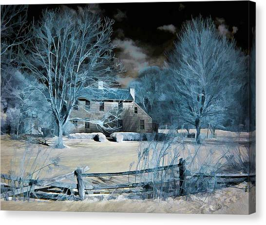 Caumsett Farm House Canvas Print
