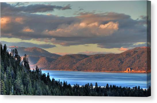 Mountain Caves Canvas Print - Cave Rock Lake Tahoe by Brad Scott