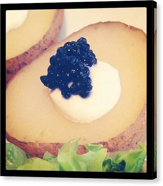 Potato Canvas Print - #caviar #food #foodie #foodporn by Chia Tze Yong