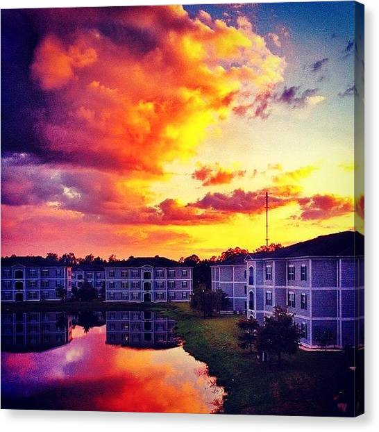 Sunset Canvas Print - #ccu #sunset 🌇 by Katie Williams