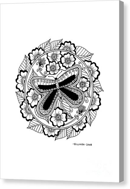 Cd 8 Black Butterfly Canvas Print