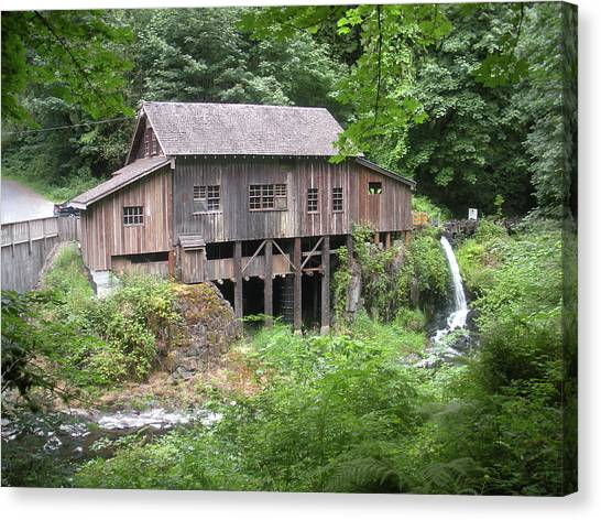 Cedar Creek Grist Mill Canvas Print by Fred Russell