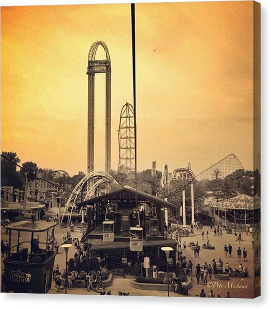 Amazing Canvas Print - #cedarpoint #ohio #ohiogram #amazing by Pete Michaud