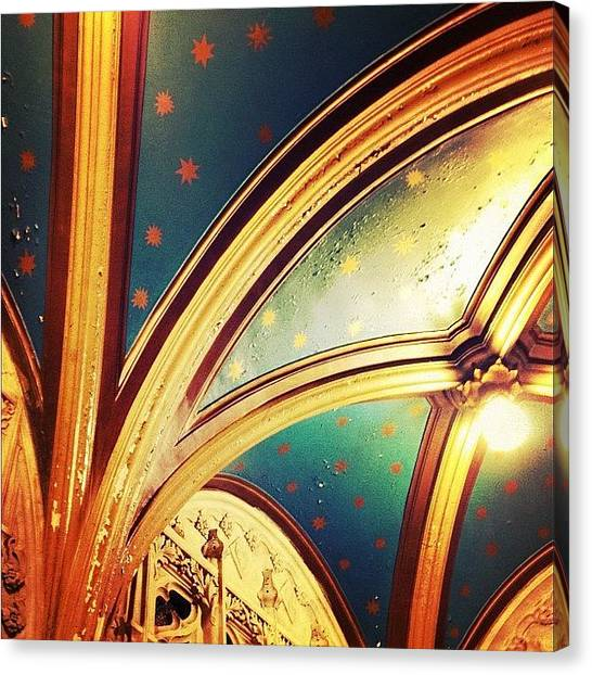 Stars Canvas Print - Ceiling Detail by Natasha Marco