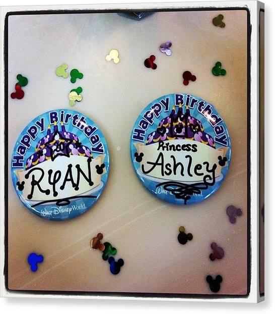 Princess Canvas Print - Celebrating A Little Early by Ashley Shine