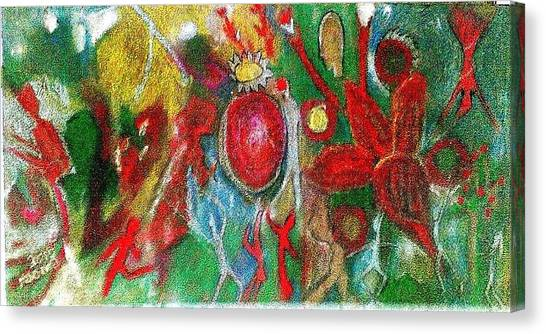Celebration Of Life.. Be.. 7 Canvas Print by Rooma Mehra