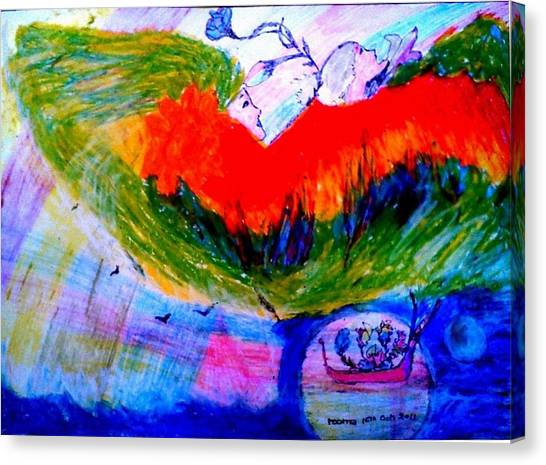 Celebration Of Life.. Be..4 Canvas Print by Rooma Mehra