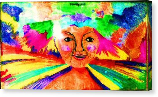 Celebration Of Life.. Be..6 Canvas Print by Rooma Mehra