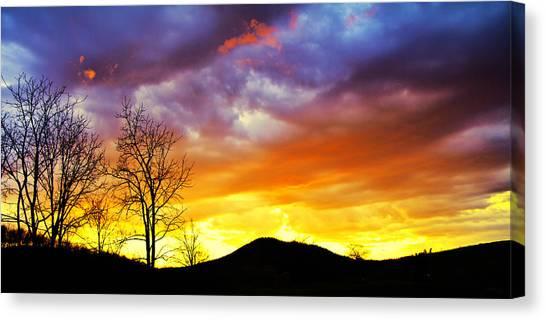 Sun Set Canvas Print - Celebration Of Night by Betsy Knapp
