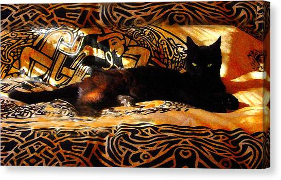 Manx Cats Canvas Print - Celtic Cat by Kathleen Horner