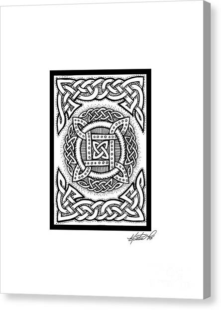 Celtic Four Square Circle Canvas Print