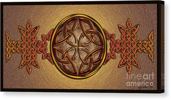 Celtic Knotwork Enamel Canvas Print