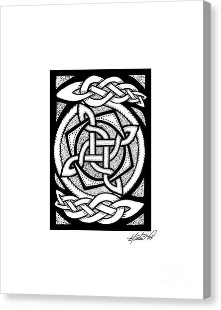 Celtic Knotwork Rotation Canvas Print
