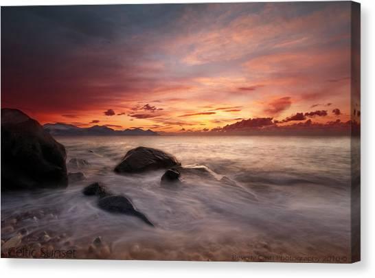 Celtic Sunset Canvas Print