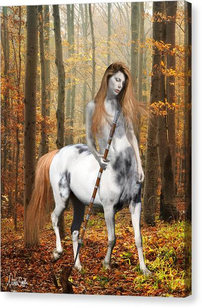 Centaurs Canvas Print - Centaur Series Autumn Walk by Nikki Marie Smith
