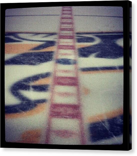 Hockey Teams Canvas Print - Center Ice At Bridgestone Arena by Justin Bradford