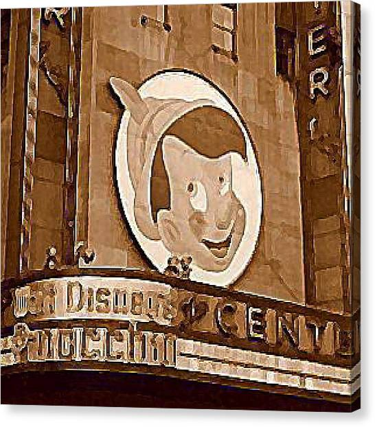Center Theatre In New York City 1940 Canvas Print by Dwight Goss