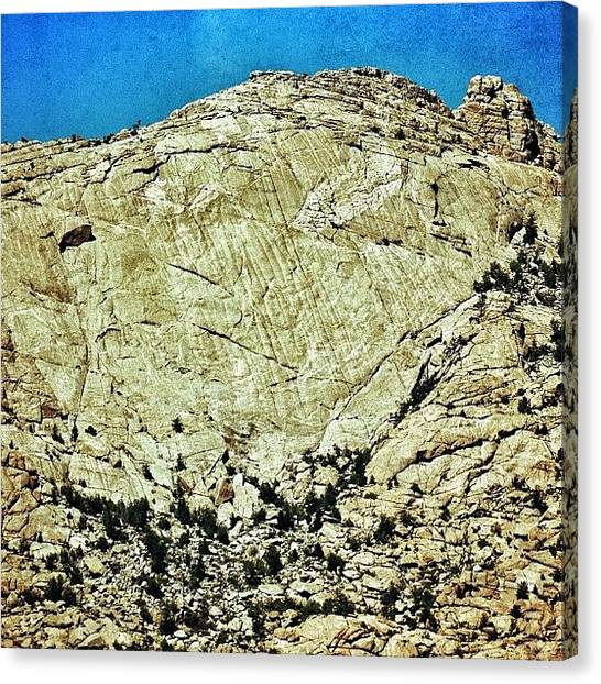 Wyoming Canvas Print - Central Face Of Split Rock In Wyoming by Chris Bechard