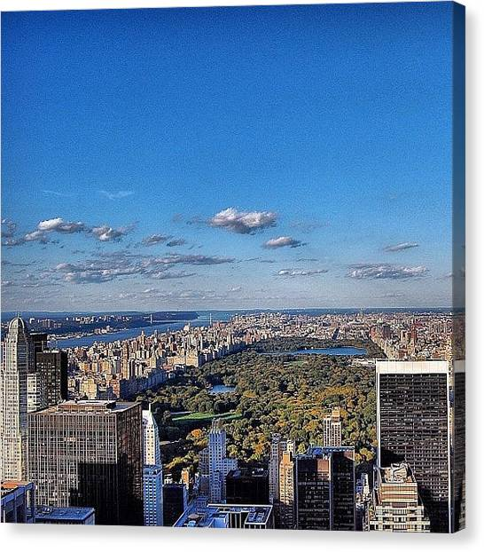 Skyscrapers Canvas Print - Central Park - New York by Joel Lopez