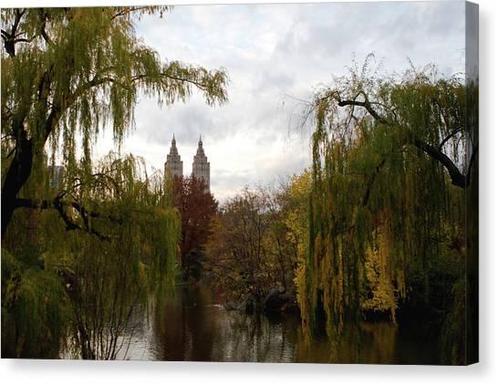 Central Park Autumn Canvas Print