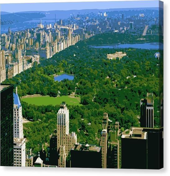 Central Park Color 16 Canvas Print