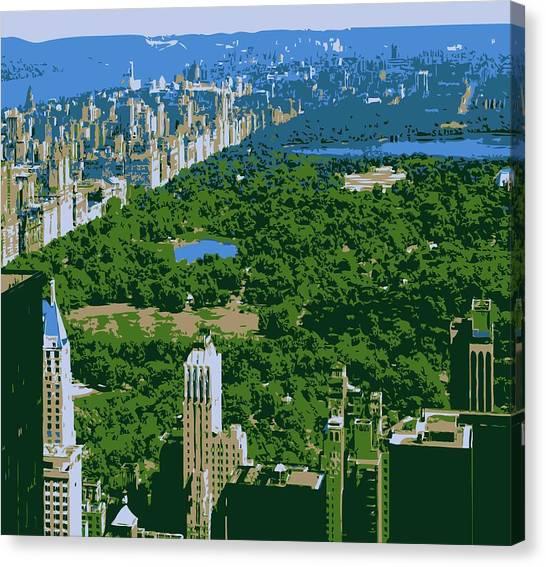 Central Park Color 6 Canvas Print