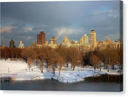 Central Park View Canvas Print by Sarah McKoy
