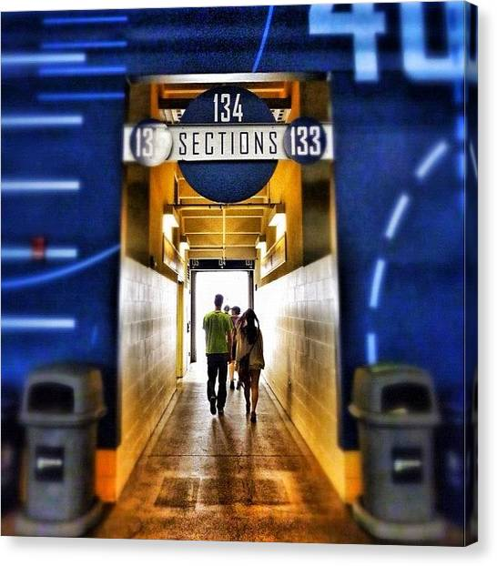 Stadiums Canvas Print - Century Link Field Section 134 by Jason Butts