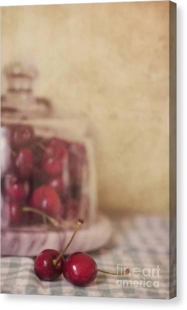 Red Canvas Print - Cerise by Priska Wettstein