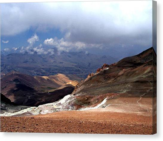 Cerro El Pintor Chile Canvas Print