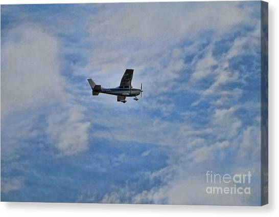 Cessnas Canvas Print - Cessna In Flight by Paul Ward
