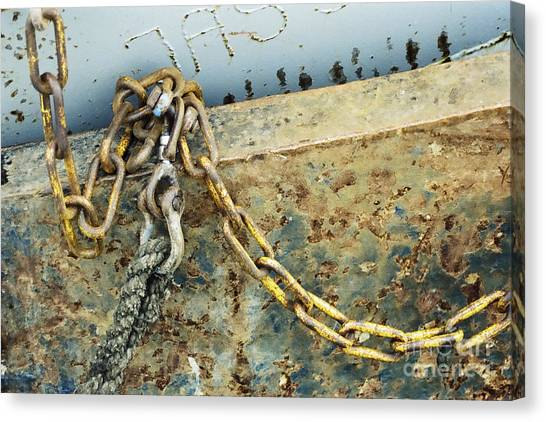 Chain Over Ship's Side Canvas Print