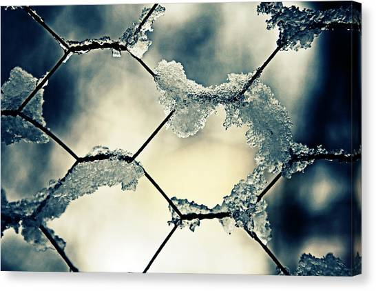 Chain Link Fence Canvas Print - Chainlink Fence by Joana Kruse