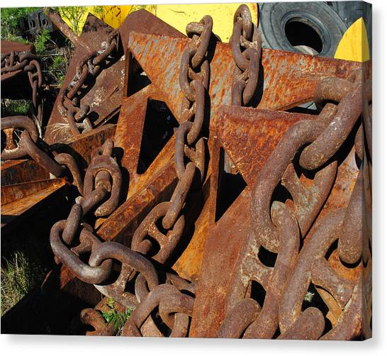 Chains And Anchors Canvas Print