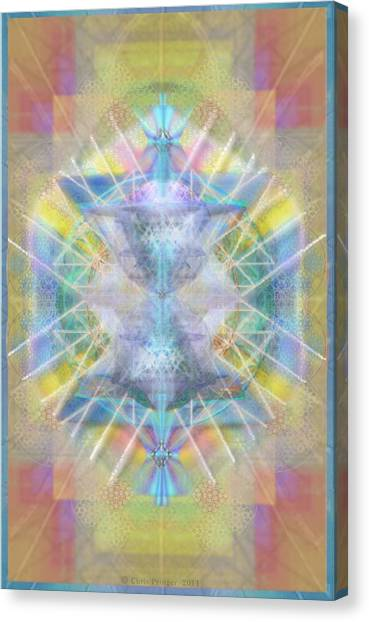 Chalice Of Vortexes Chalicell Rings On Renaissance Back Canvas Print by Christopher Pringer