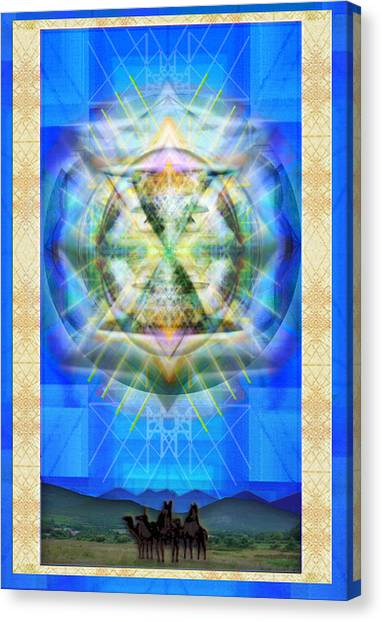 Chalice Star Over Three Kings Holiday Card Xbbrtii Canvas Print