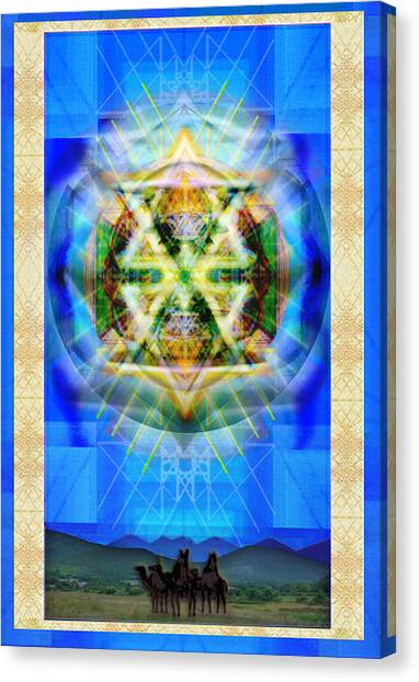 Chalice Star Over Three Kings Holiday Card Xbbrtiii Canvas Print