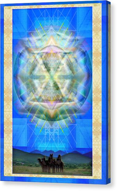 Chalice Star Over Three Kings Holiday Card Xci Canvas Print