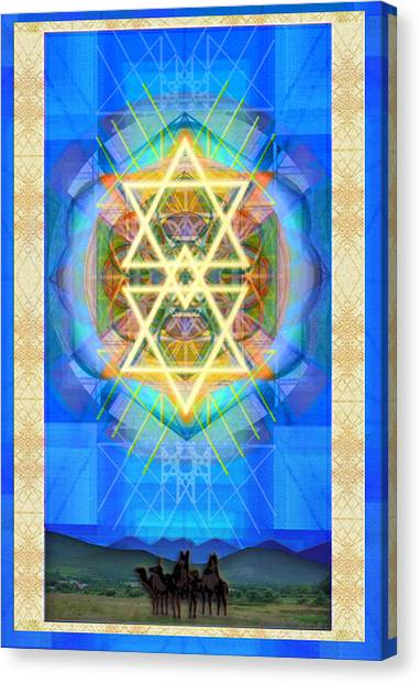 Chalice Synthesis Star Over Three Kings Holiday Card  Vi Lt Canvas Print