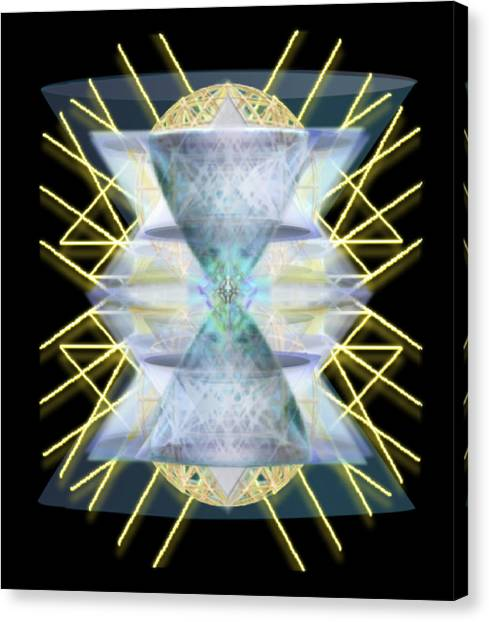 Chalices From Pi Sphere Goldenray IIi Canvas Print