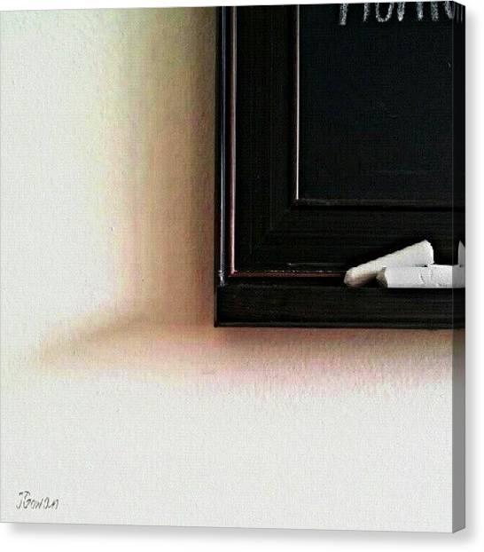 Minimalism Canvas Print - Chalkboard. #chalkboard #chalk #shadow by Jess Gowan
