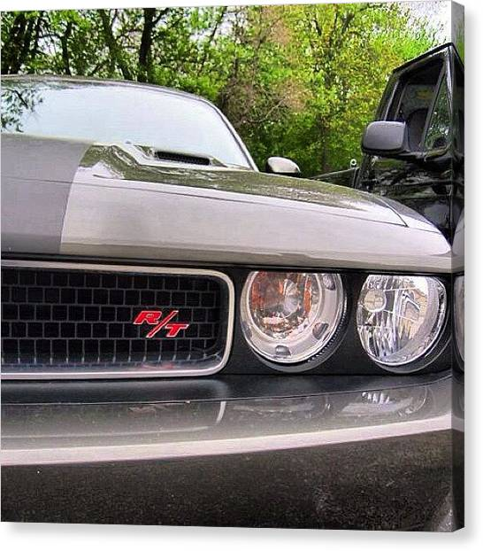 Dodge Canvas Print - #challenger #r/t #rt #carshow by Tyler Hittner