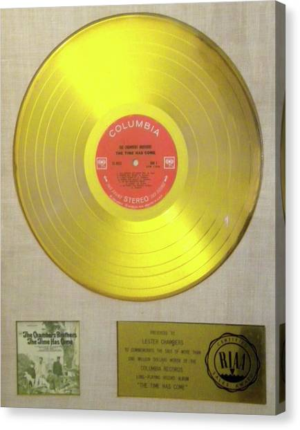 Chambers Brothers Gold Record Canvas Print